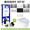 Geberit Geberit UP320 Toiletset set69 Geberit ONE Rimless Diepspoel Turboflush Wit met Sigma 20 drukplaat