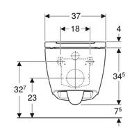 Geberit UP320 Toiletset set69 Geberit ONE Rimless Diepspoel Turboflush Wit met Sigma 50 drukplaat