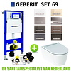 Geberit Geberit UP320 Toiletset set69 Geberit ONE Rimless Diepspoel Turboflush Wit met Sigma 50 drukplaat