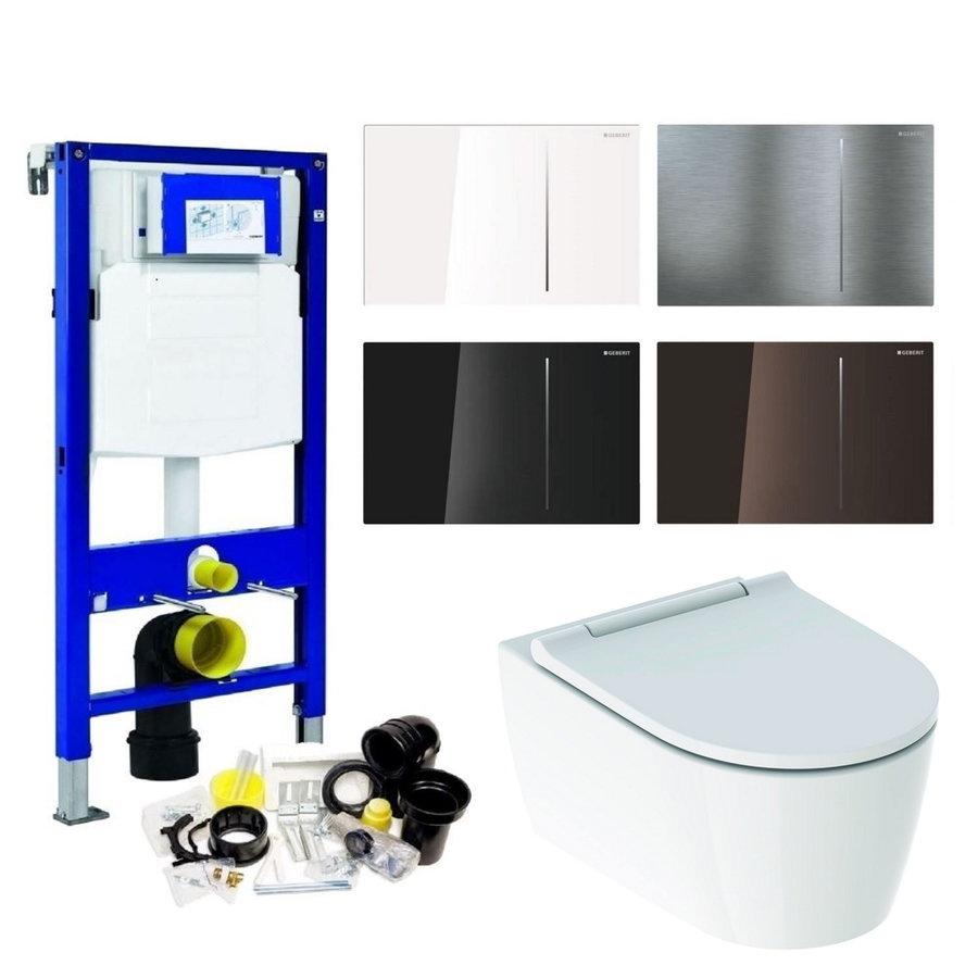 Geberit UP320 Toiletset set69 Geberit ONE Rimless Diepspoel Turboflush Wit met Sigma 70 drukplaat