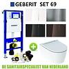 Geberit Geberit UP320 Toiletset set69 Geberit ONE Rimless Diepspoel Turboflush Wit met Sigma 70 drukplaat