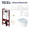 Geberit TECE Profile Inbouwreservoir Toiletset Geberit ONE Rimless Diepspoel Turboflush Wit met drukplaat