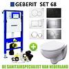 Geberit Up320 Toiletset 68 Geberit Econ Compact Rimfree Met Zitting En Sigma Drukplaat