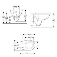 Up100 Toiletset 67 Geberit Econ Compact Rimfree Met Zitting En Delta Drukplaat