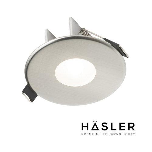 Inbouwspot Häsler Blanes Incl. Fase Aansnijding Dimbaar 8 cm 4 Watt Warm Wit RVS (Meerdere Spots)