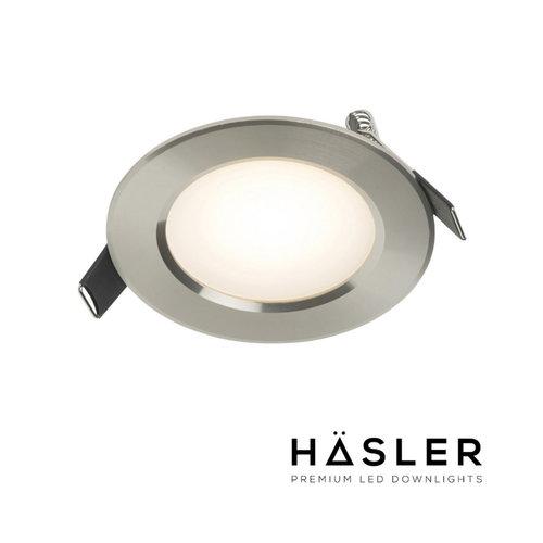 Inbouwspot Häsler Comarruga Incl. Fase Aansnijding Dimbaar 9.2 cm 4 Watt Warm Wit RVS Set (Meerdere Spots)