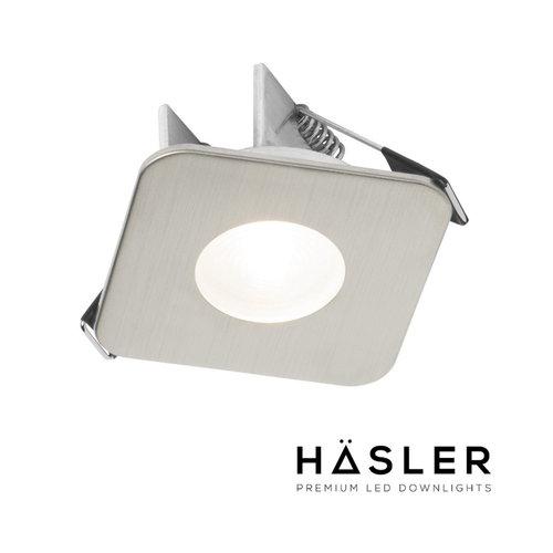 Inbouwspot Häsler Mallorca Incl. Fase Aansnijding Dimbaar 6,8 cm 4 Watt Warm Wit RVS Set (Meerdere Spots)