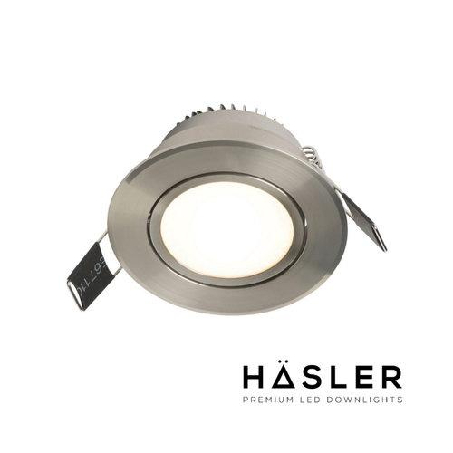 Inbouwspot Häsler Tordera Incl. Fase Aansnijding Dimbaar 8 cm 4 Watt Warm Wit RVS Set (Meerdere Spots)