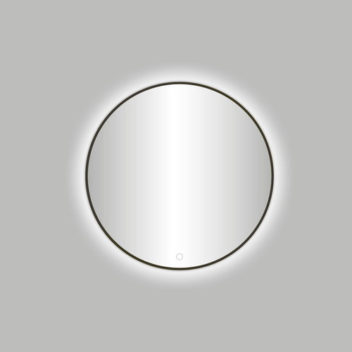 Badkamerspiegel Best Design Venetië Moya LED Verlichting 60x60 cm Rond Gunmetal