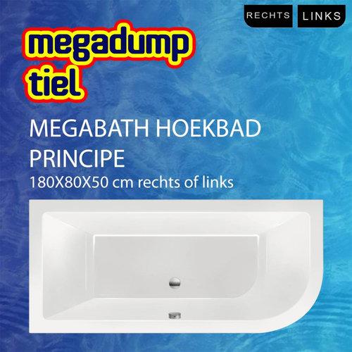 Hoekbad Principe 180X80X50 Cm Rechts/Links
