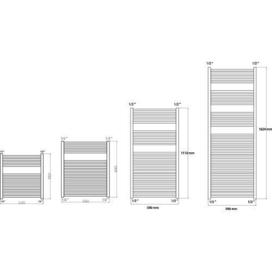 Haceka radiator Sahara (in 3 maten)