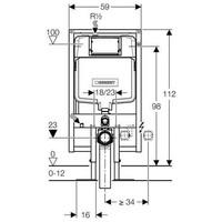 Duofix Up720 Ruimtebesparend Inbouwreservoir