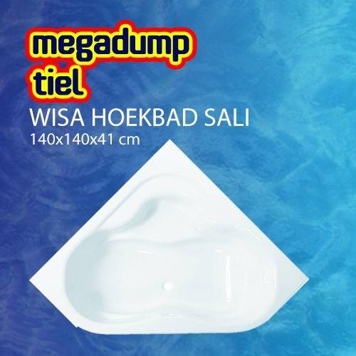 Hoekbad Sali 140X140X41 Cm Wit
