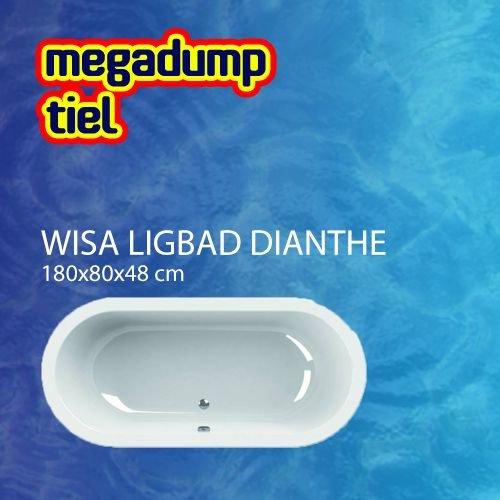 Ligbad Wavedesign Dianthe Wit 180X80X48 Cm