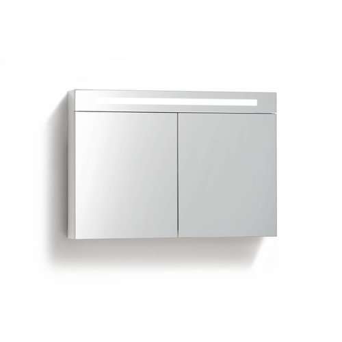 Spiegelkast 120 Cm Met Tl Verlichting En Stopcontact 4 Kleuren Leverbaar