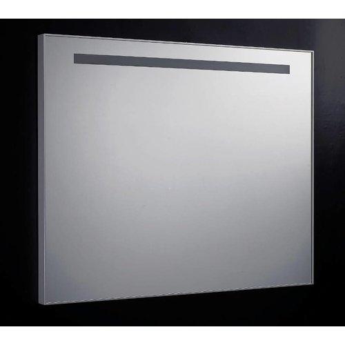 Spiegel 80Cm Aluminium Met Tl Verlichting En Schakelaar