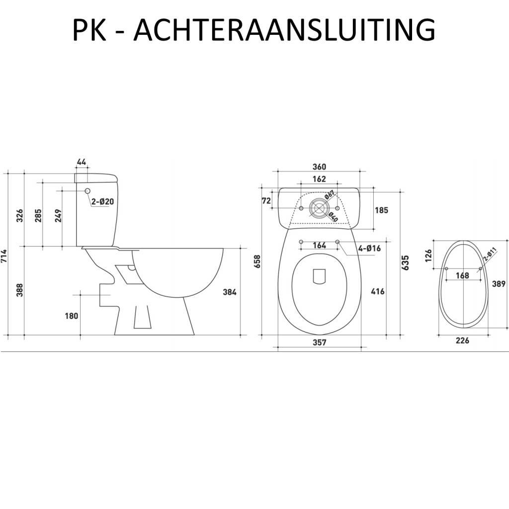 Hoogte Wc Pot.Vm Go Compleet Toledo Duoblok Staande Toilet Van Keramiek Ao Of Pk