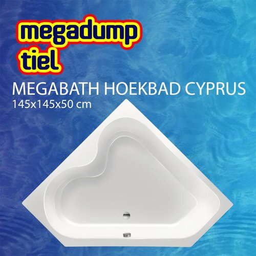 Hoekbad Cyprus 145X145X50 Cm