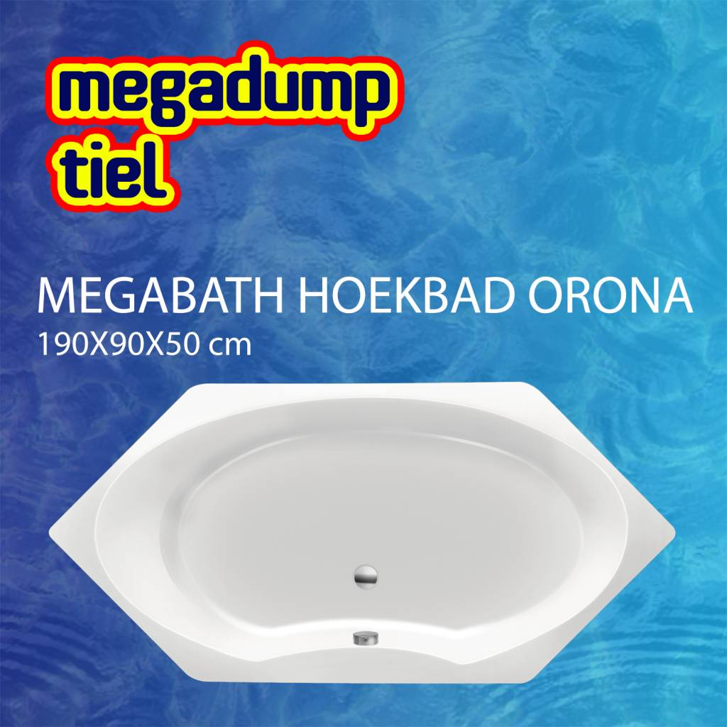 Hoekbad Orona 190X90X50 Cm