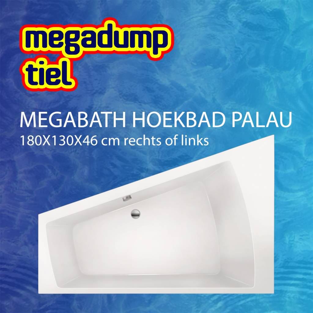 Hoekbad Palau 180X130X46 Cm Rechts/Links