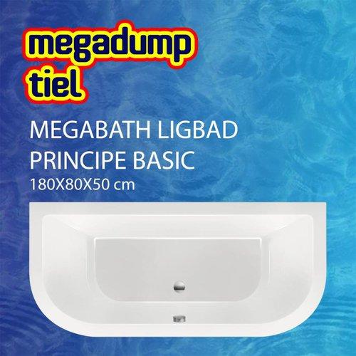 Ligbad Principe Basic 180X80X50 Cm