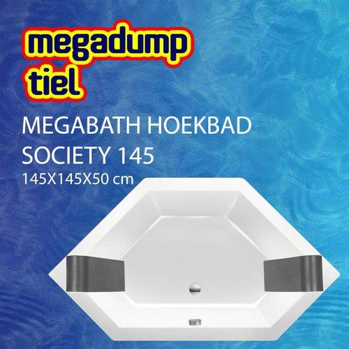 Hoekbad Society 145 145X145X50 Cm