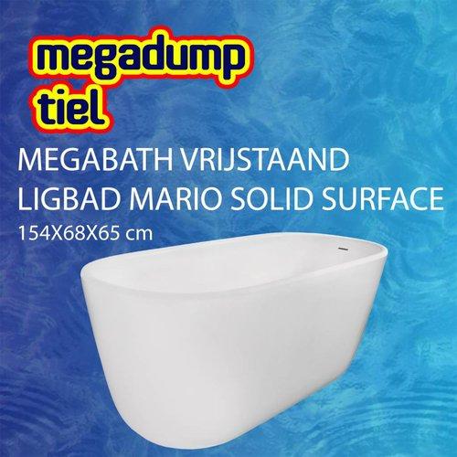 Vrijstaand Ligbad Mario Solid Surface 154X68X65 Cm