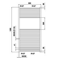 Design Radiator 60X120 Cm Chroom Outlet