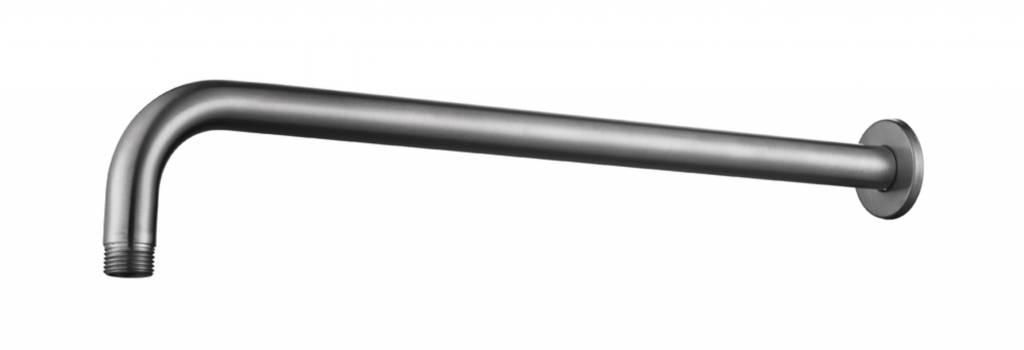 304-Gebogen Douchearm Rond Muurbevestiging 40Cm Rvs