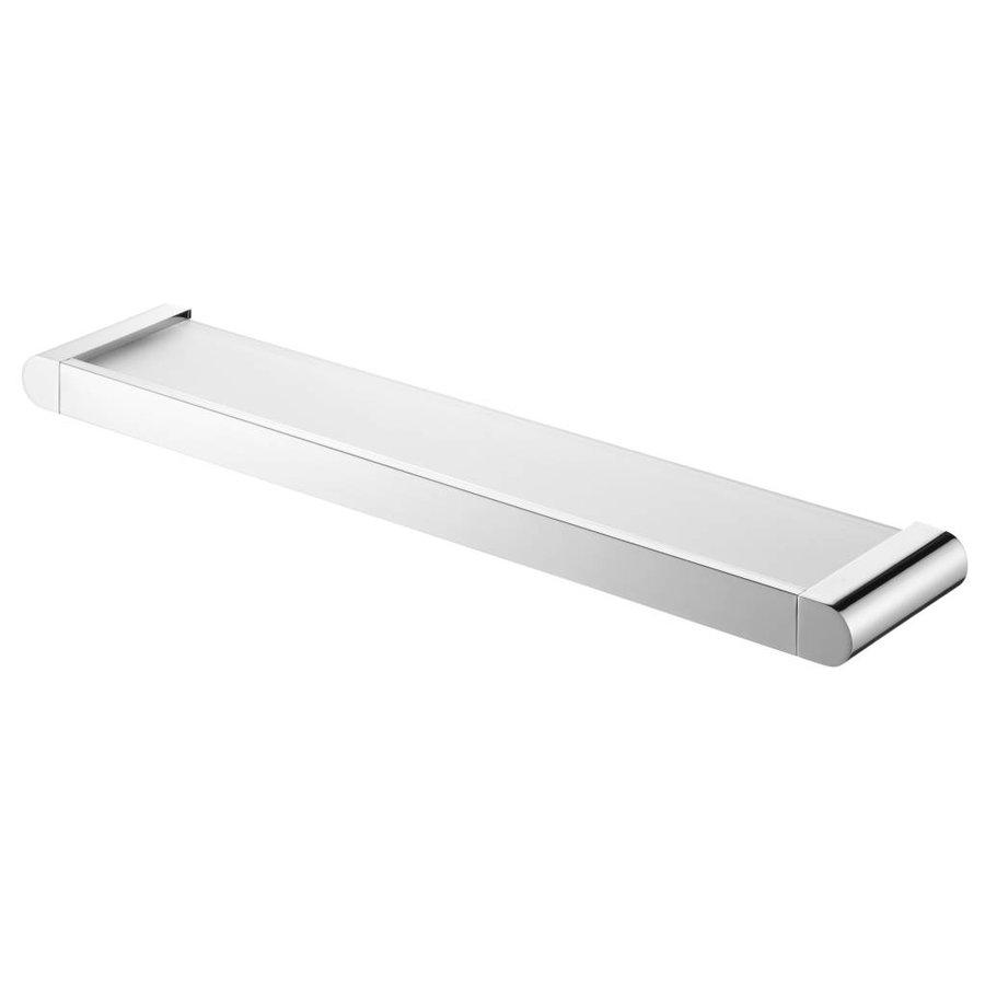 Futura Planchet Met Mat Glazen Tablet Messing Chroom 54 Cm