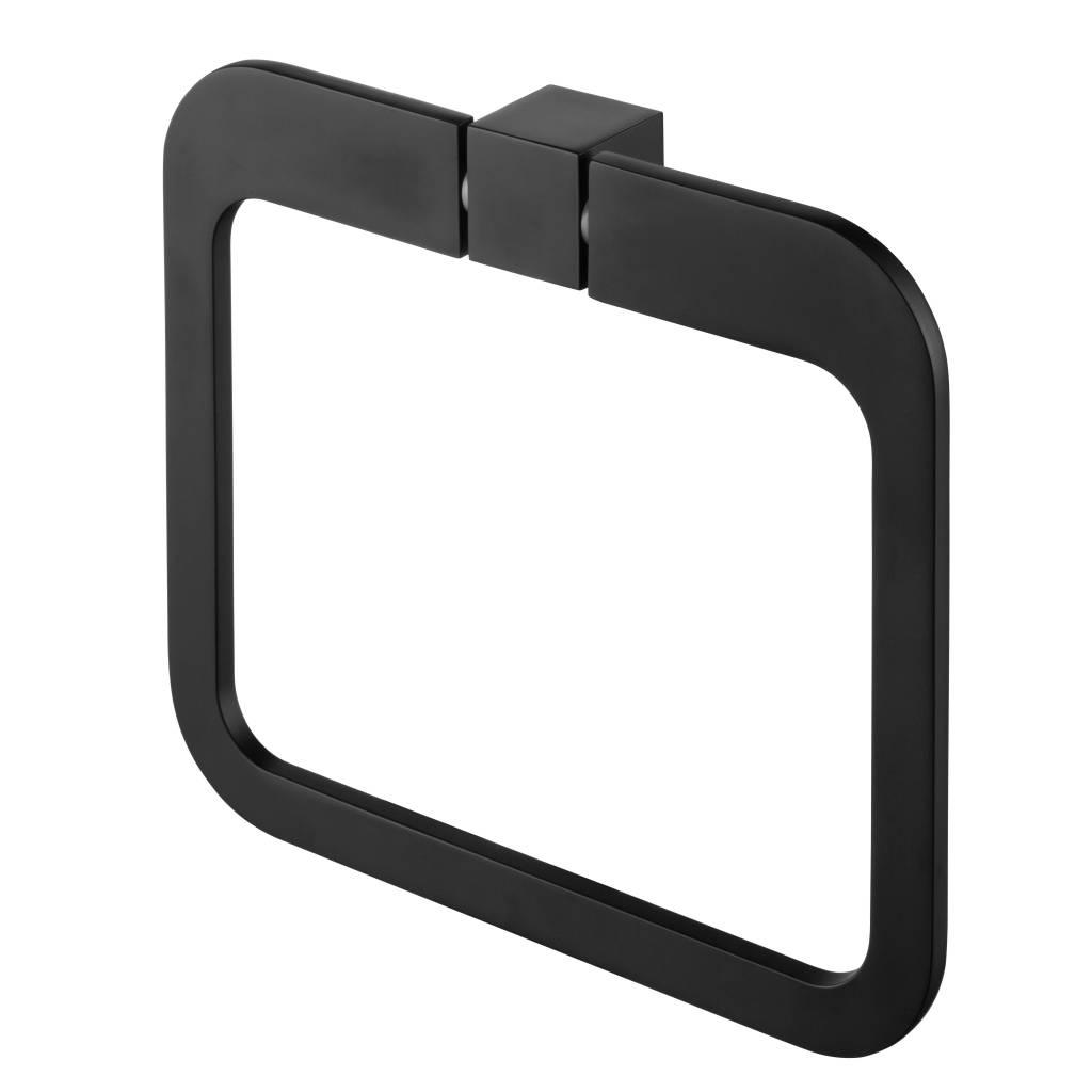 Futura Handdoekring Messing Zwart 18 cm Allibert