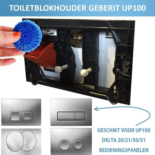 Toiletblokhouder t.b.v. Geberit Up100