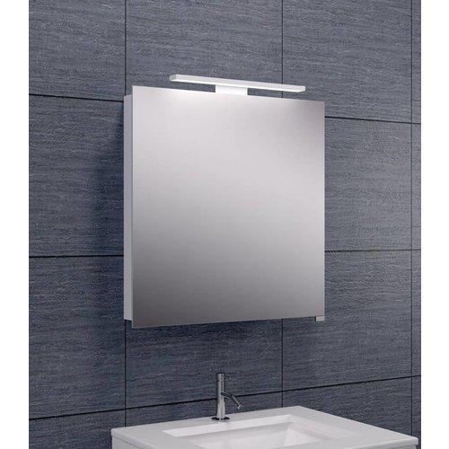 Spiegelkast Met Led Verlichting 60X60 Aluminium