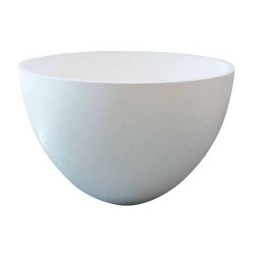 Waskom Just Solid Surface Opbouw Eco 48 Cm Glans Wit