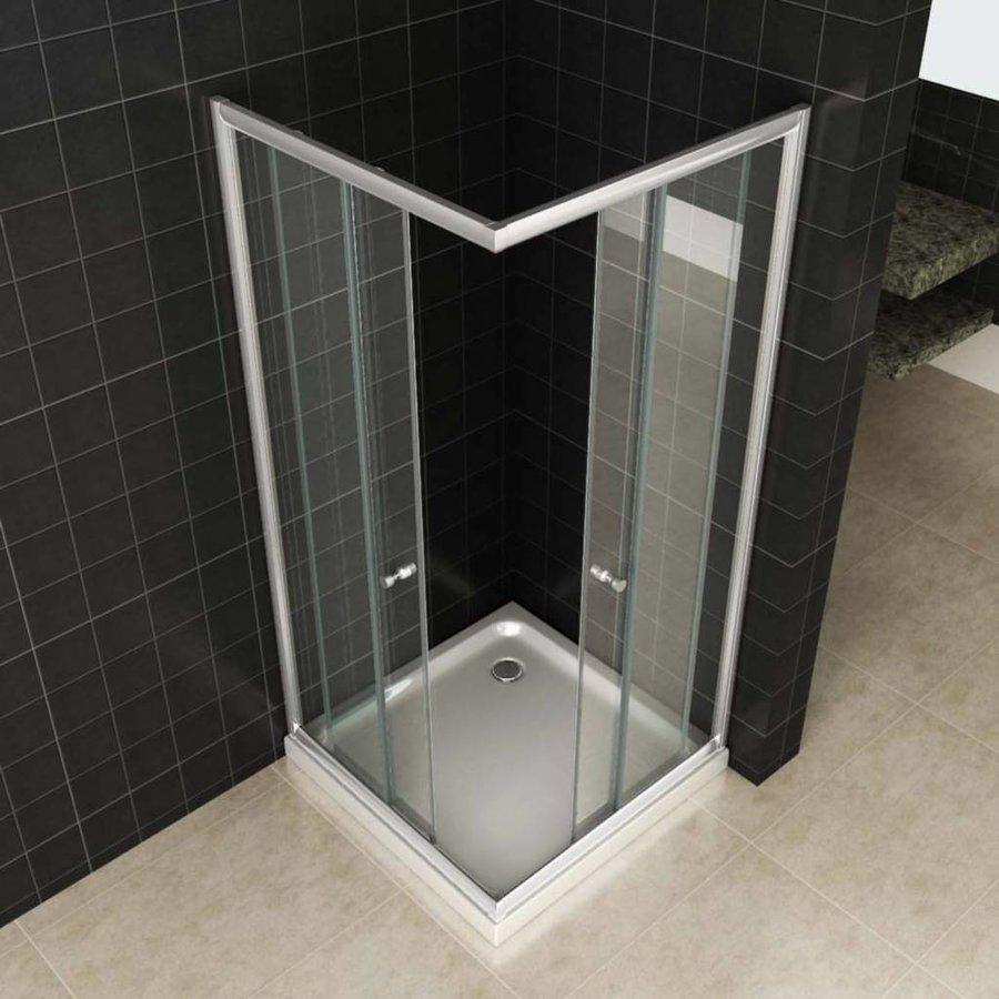 Douchecabine Aktie Hoekinstap 80X80X190 Cm 5Mm Helder Glas