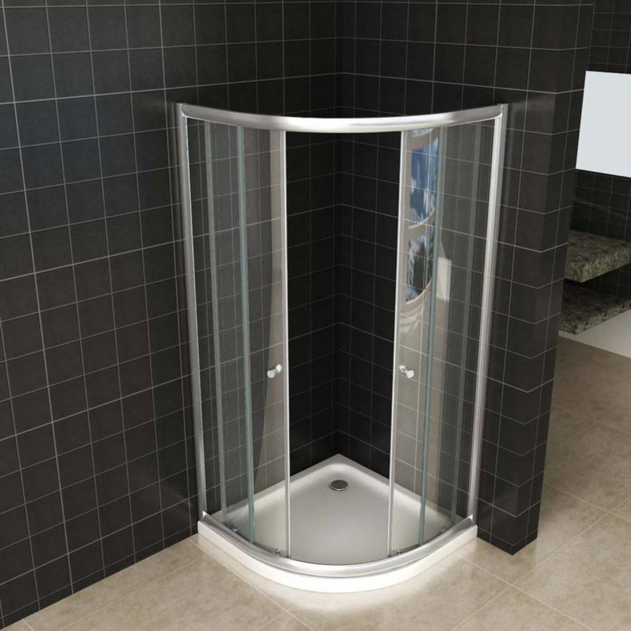 Douchecabine Aktie Kwartrond 80X80X190 Cm 5Mm Helder Glas