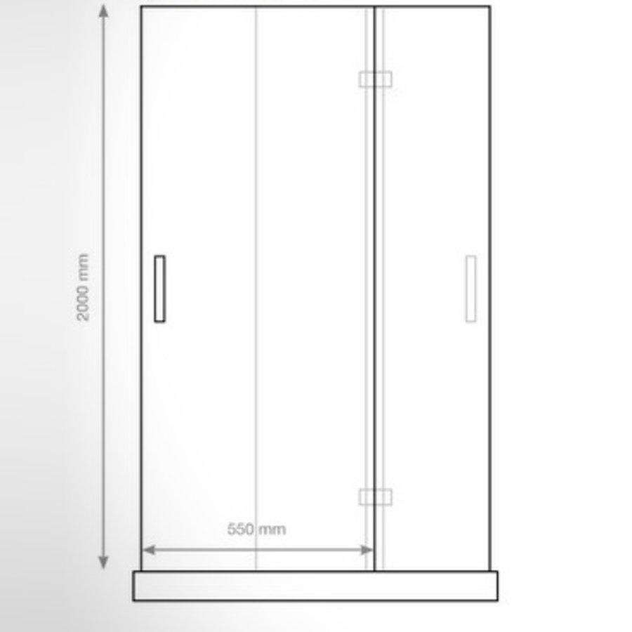 Nisdeur P&L Design Klapdeur 200X110Cm 8Mm