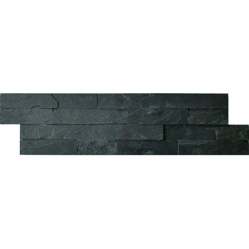 Schiste Flatface Stonepanel Antraciet Slate 15X60X1/2, Breukruw P/Stuk