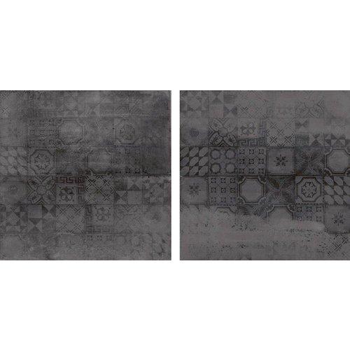Vloertegels Concrete Antraciet Decor 60X60 Cm, Mat P/M²