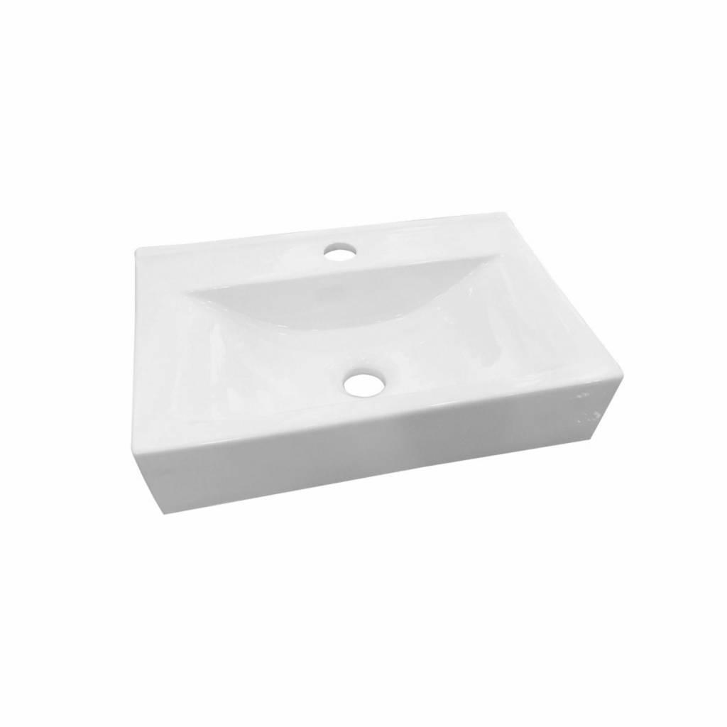 Wasbak Wit Rechthoekig.Adw Design Wastafel Train Rechthoek Keramiek 45x30 5x10 Cm Wastafels