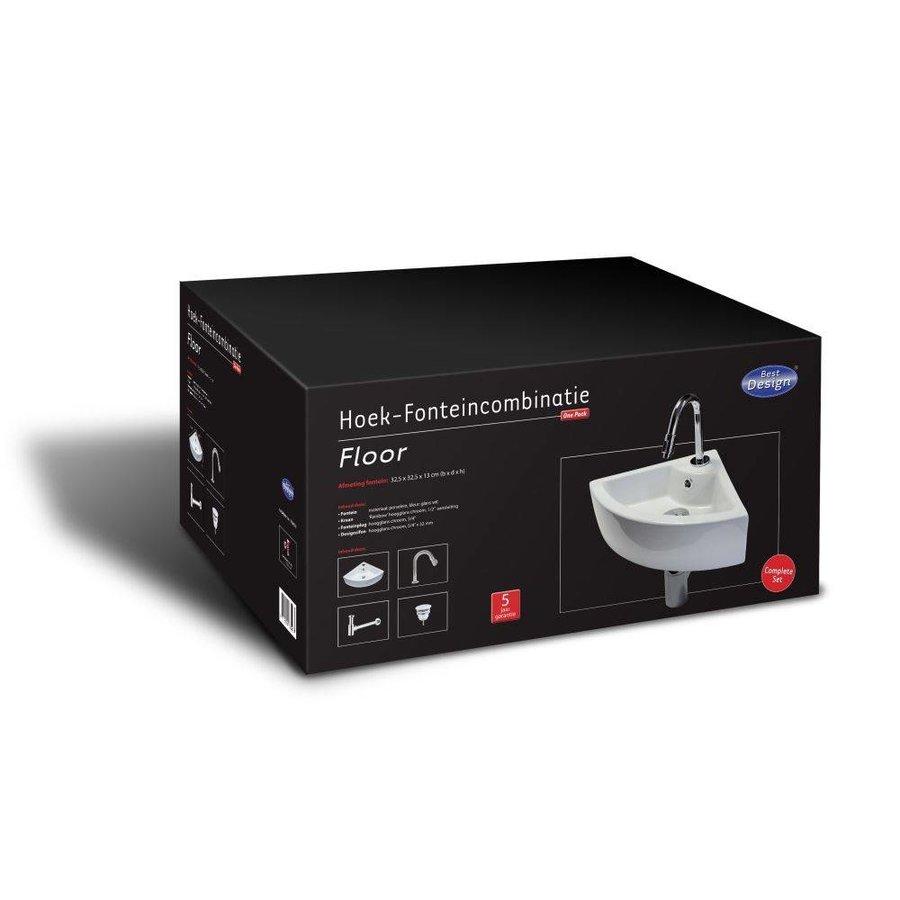 Fonteinset Floor One Pack Hoekmodel 32. 5X32. 5Cm