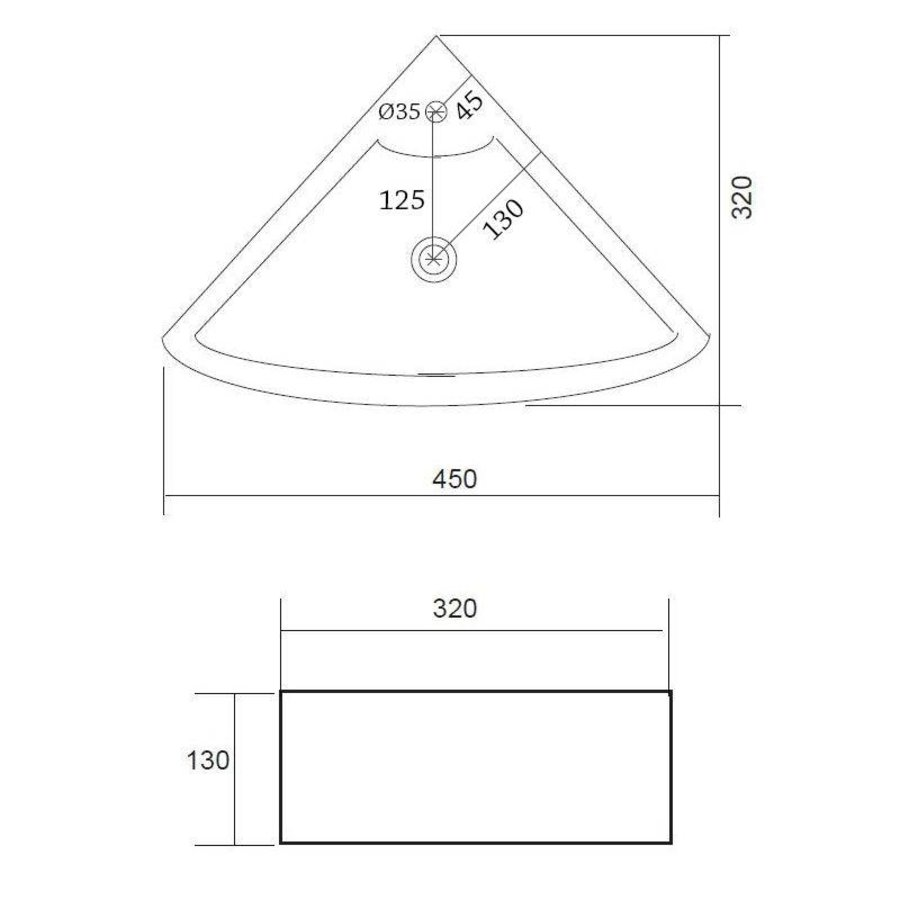 Fontein Floor Hoekmodel 32. 5X32. 5Cm