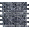 Gio Gres Marmer Mozaiek Karia Black 2,5X5X1 Cm P/M²