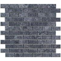 Marmer Mozaiek Karia Black 2,5X5X1 Cm P/M²
