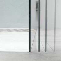Nisdeur 'I Am' 70X200 Cm Chroom/Zilver Helder Antikalk Glas