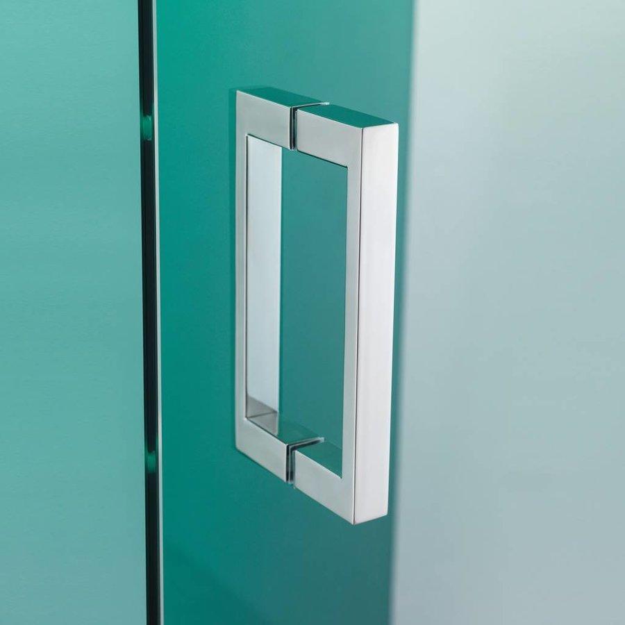 Nisdeur 'I Am' 80X200 Cm Chroom/Zilver Helder Antikalk Glas
