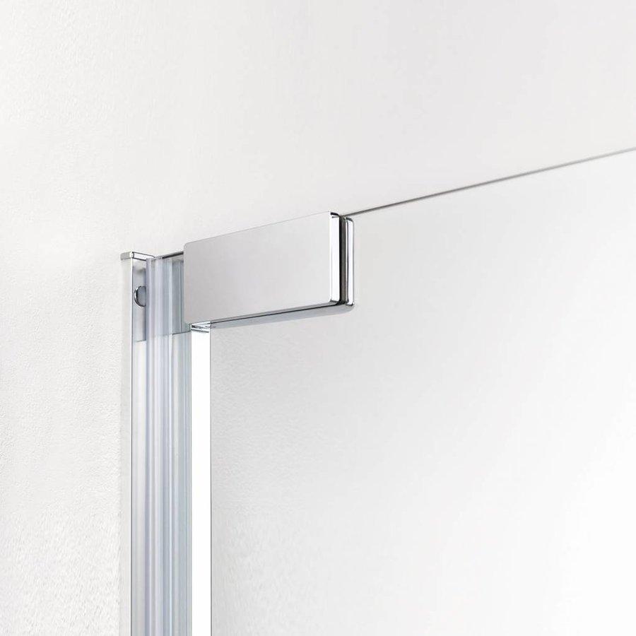 Douchecabine Impact 100X100Cm 1/4 Rond Swingdeuren Chroom/Zilver Helder Glas