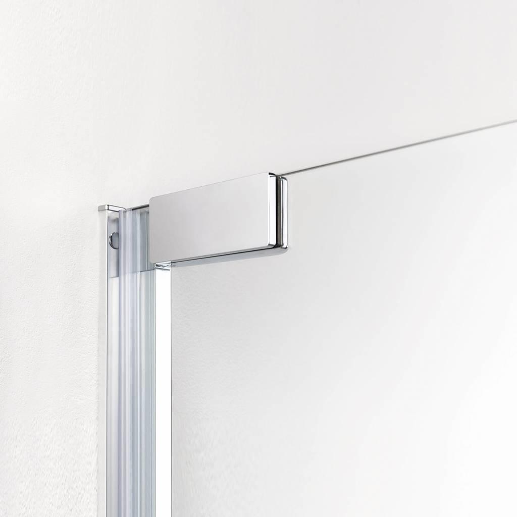 Douchecabine Hoekinstap 100x100.Get Wet By Sealskin Douchecabine Impact Hoekinstap 100x100 Cm Chroom Zilver Helder Glas
