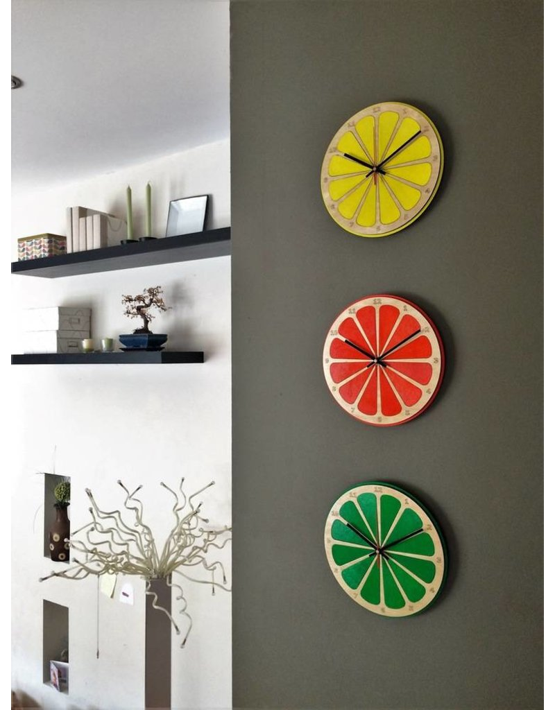 Blue Bridge Design Lime Citrus Clock