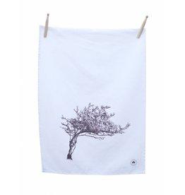 Sealed with Irish Love Windswept Hawthorn Tree Tea Towel